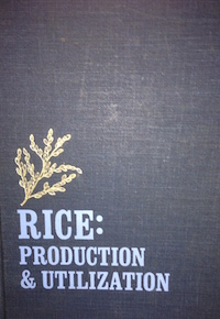 This book is published by AVI publishing company inc.  Westport, Connecticut.  Chapter 4--Rice Culture co authored by Duane Mikkelsen and Surajit K. De Datta  pp147-235