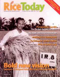 IRRI reported IR8 story in rice today.  Dr. De Datta's research that identified IR8-288-3 which IRRI released as IR8 which revolutionized rice production in tropical Asia which in turn contributed to Global food security.