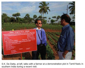 Dr. De Datta garnered USAID - funded multimillion dollar IPMCRISP Global project for improved pest management for Horticultural crops, increasing farmers income and nutrition.